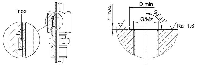 Thermofühlerverschraubung METR
